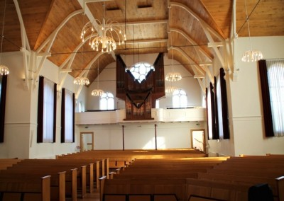 Renovatie interieur kerk in Putten