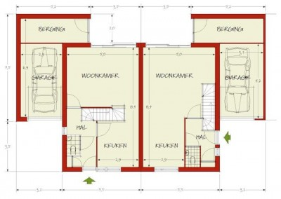 Ontwerpstudie nieuwbouw woningen Wageningen